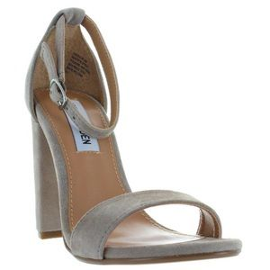 Steve Madden Carson Taupe Sued Heels